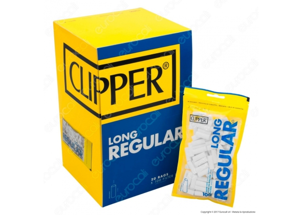 CLIPPER FILTRO 8MM LONG IN BUSTA DA 100 PZ (20) ( ACCISA 0,36)
