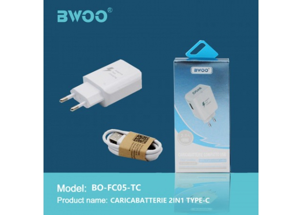 BWOO CARICABATTERIE 2 IN 1 TYPE-C ART.FC05-TC