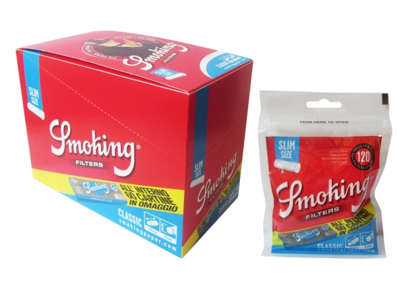 SMOKING FILTRO 6MM CON CARTINA BLU CORTA (30)(ACCISA 0,648)